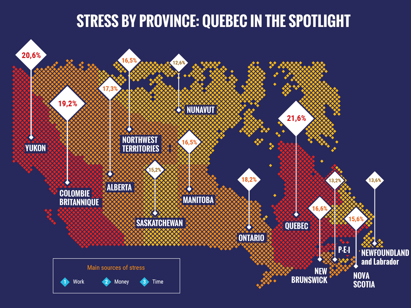 Stress by Province Map